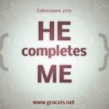 Jesus Completes Us