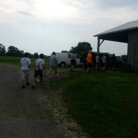 starting out the day at Clagett farms